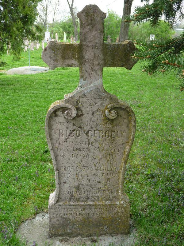 Rigó Gergely sírköve.